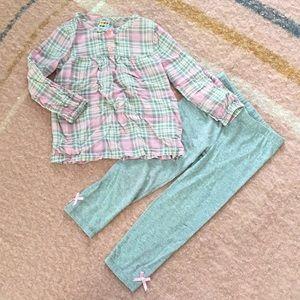 Plaid legging set